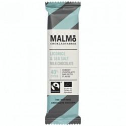Malmö Organic Milk Chocolate Liquorice & Seasalt