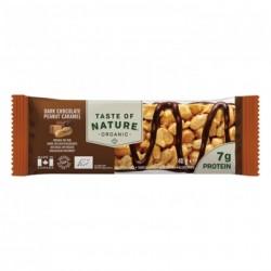 Taste of Nature Organic Bar Dark Chocolate Peanut Caramel