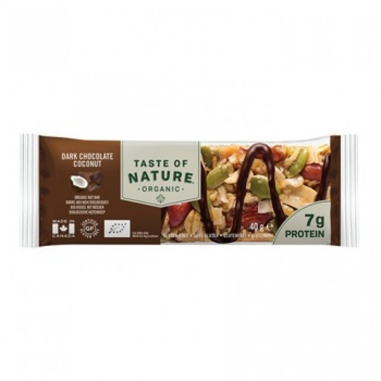 Taste of Nature Organic Bar Dark Chocolate Coconut