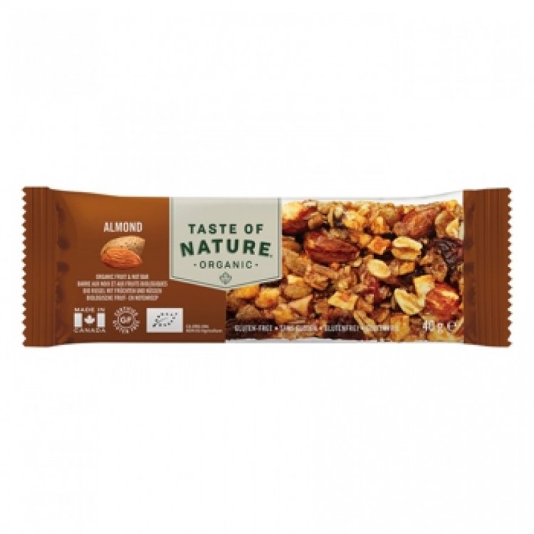 Taste of Nature Organic Nutrition Bar Almond