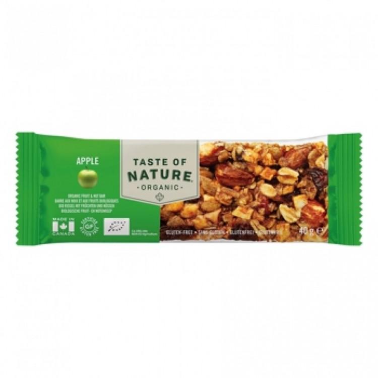 Taste of Nature Organic Nutrition Bar Apple
