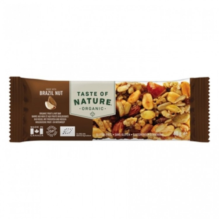 Taste of Nature Organic Nutrition Bar Brazil Nut