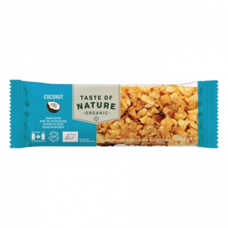 Taste of Nature Organic Nutrition Bar Coconut