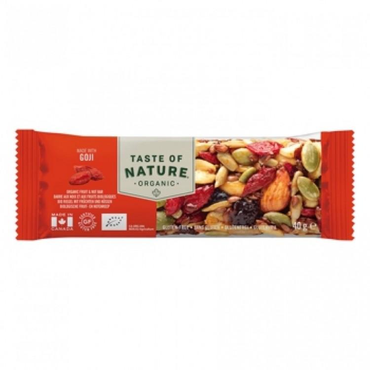Taste of Nature Organic Nutrition Bar Goji