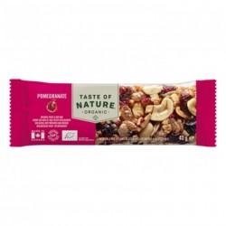 Taste of Nature Organic Nutrition Bar Pomegranate