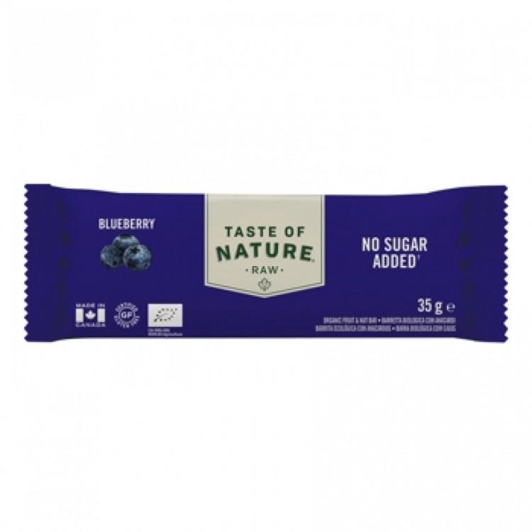 Taste of Nature Organic Raw Bar Blueberry