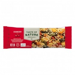 Taste of Nature Orgnaic Nutrition Bar Cranberry