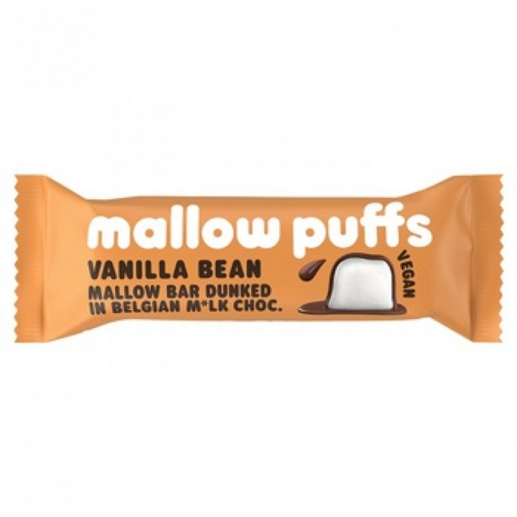 Mallow Puffs Vegan Bar Vanilla Bean Dark